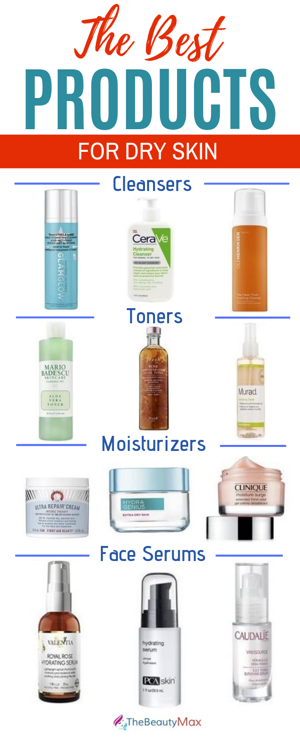 Best Products For Dry Skin Dermatologists Swear By Dry Skin Cleansers Skin Cleanser Products Moisturizer For Dry Skin