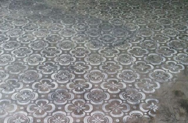 These 15 Stenciled Concrete Floors Will Amaze You Stenciled Concrete Floor Concrete Floors Painted Concrete Porch