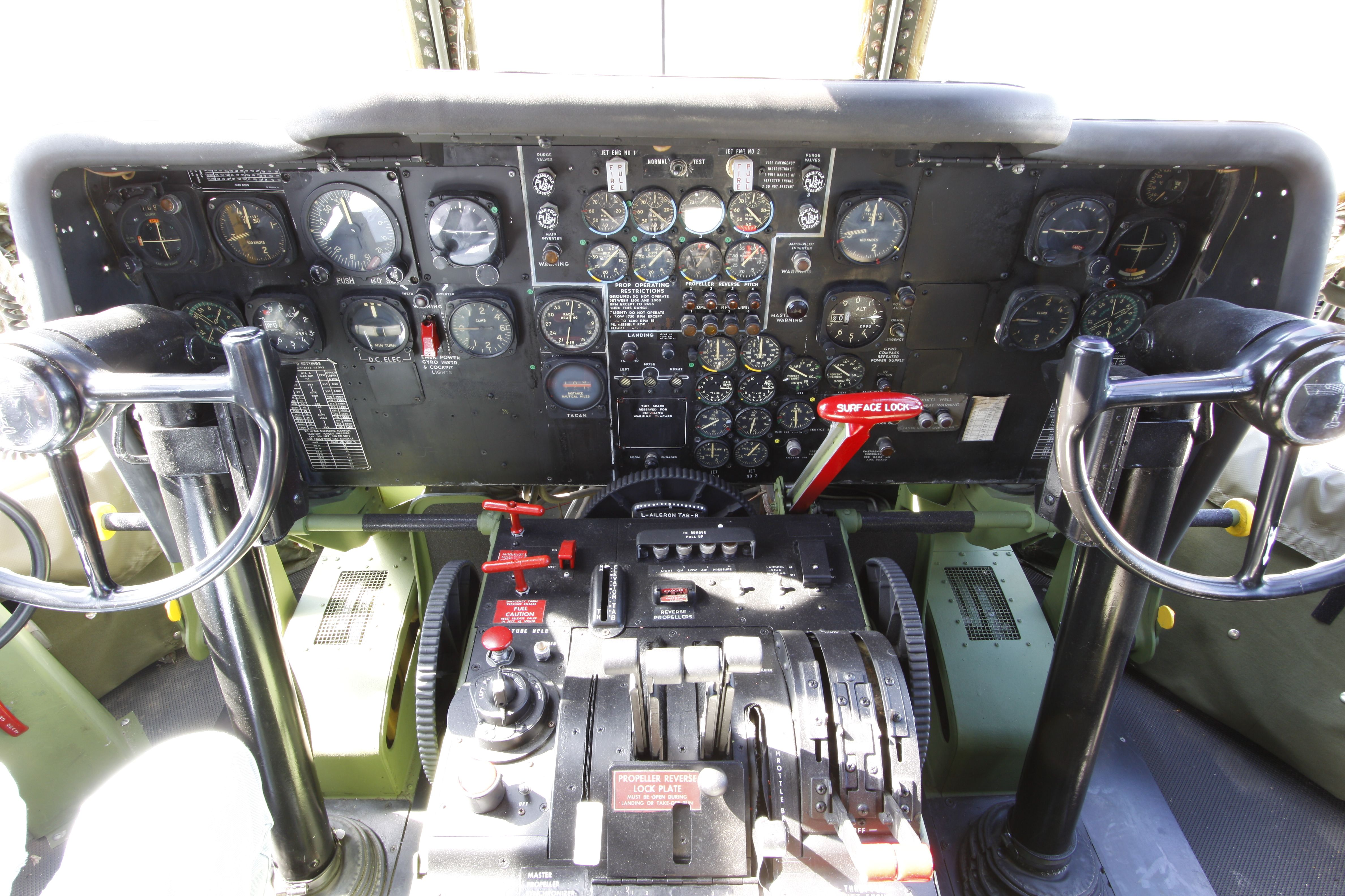 Kc 97 Stratofreighter Cockpit Cockpit Flight Deck Military