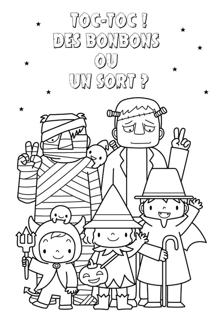 Coloriage Bonbon Halloween.Coloriage D Halloween Print Coloriage Halloween Coloriage