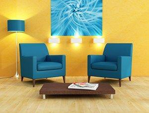 salon-jaune-bleu.jpg (300×228) | DECO | Pinterest | Salon bleu ...