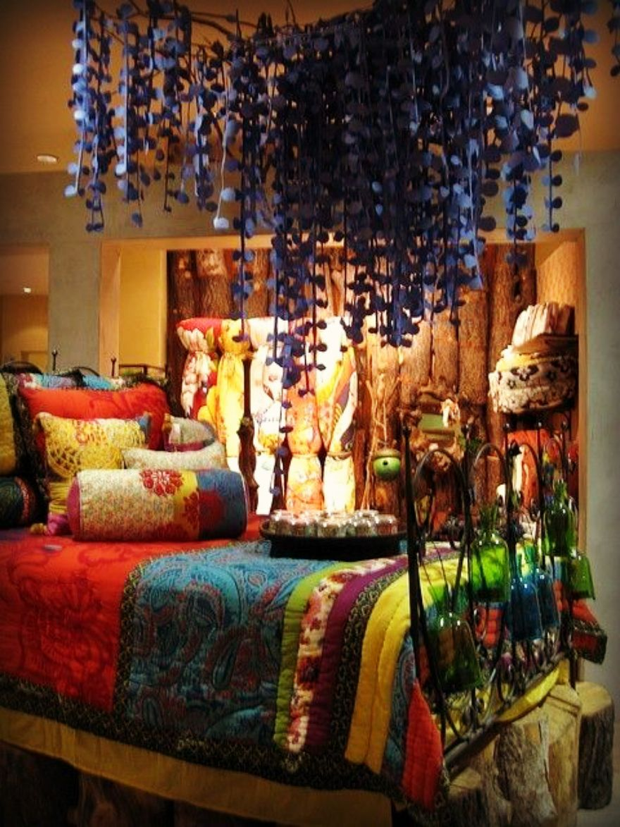 Boho Decor, Beautiful Quilt Strips Of Fabric Instead Of Small Squares Or  Shapes. :) I See One In Our Future. Part 85