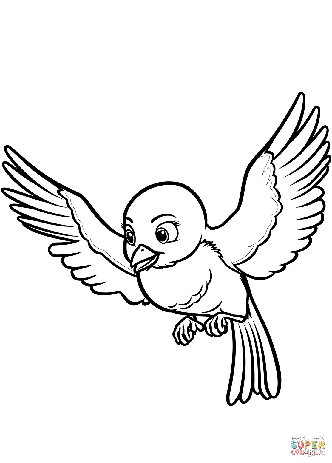 Mia The Bluebird From Sofia The First Coloring Page Free Bird Coloring Pages Disney Coloring Pages Printables Animal Coloring Pages