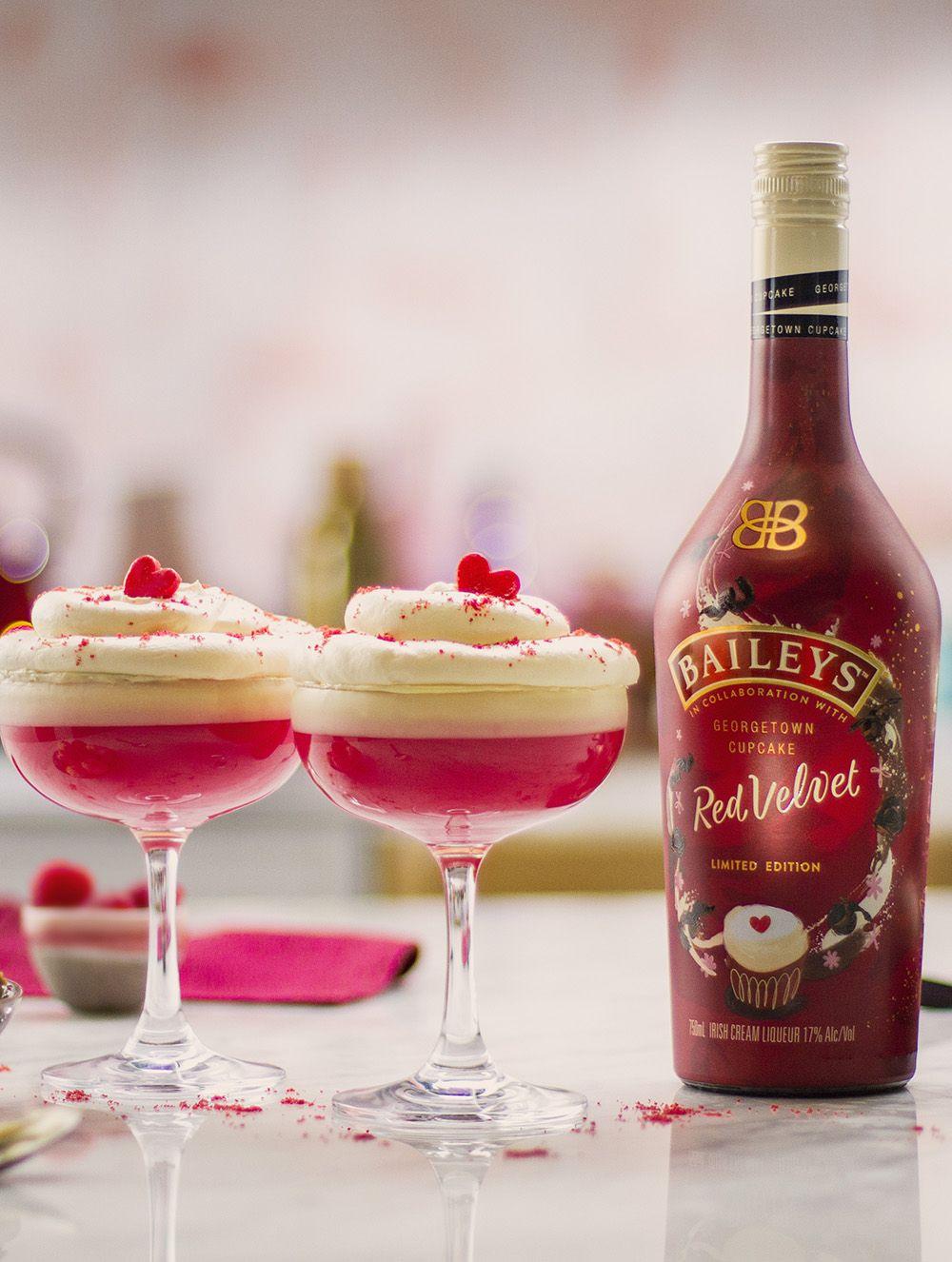 Baileys Red Velvet Cupcake Martini Recipe In 2020 With Images Red Velvet Cupcakes Martini Recipes Baileys