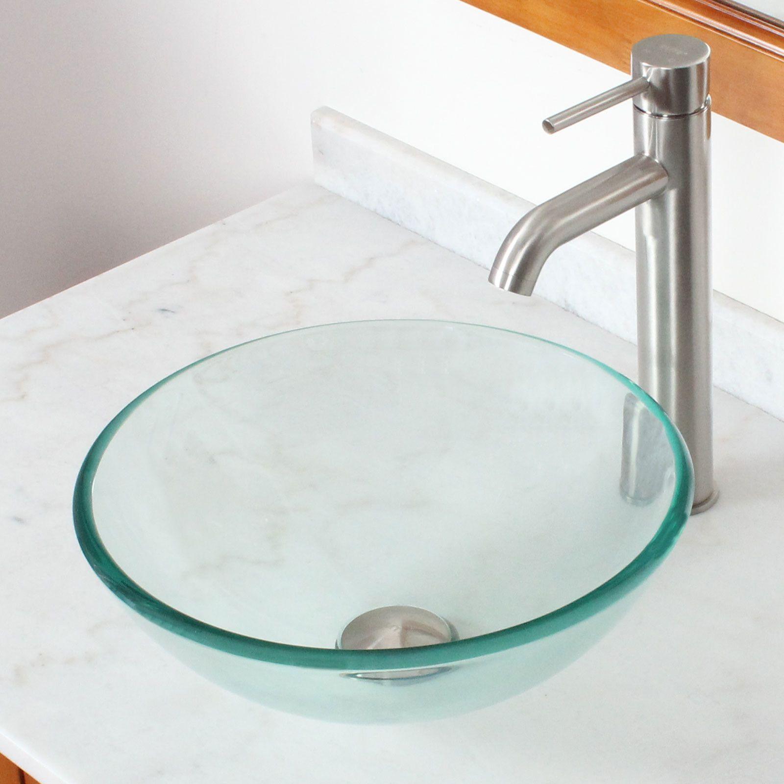 Solo Modern Glass Bowl Sink Wall Mount
