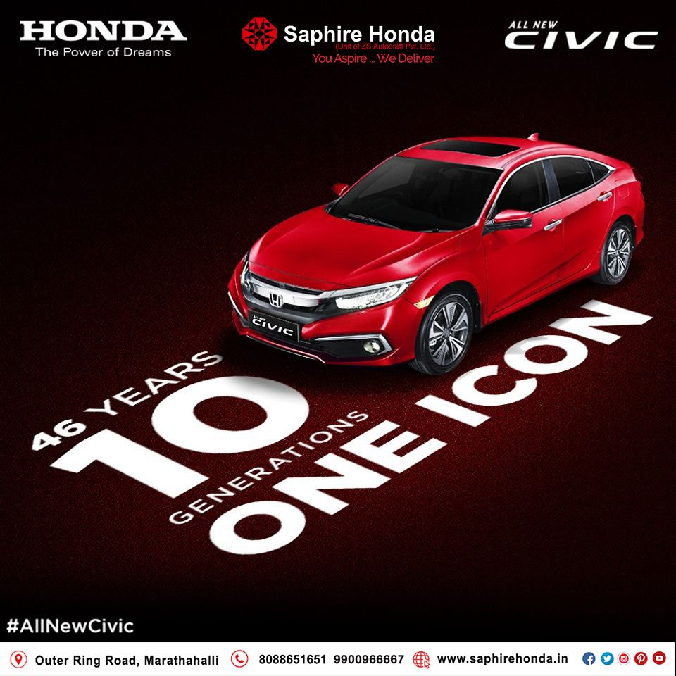 It is a legacy unmatched by any other, that has captured hearts for decades. #AllNewCivic launches on March 7th, 2019! Visit:  or Call: 8088651651 #HondaCivic #HondaCars