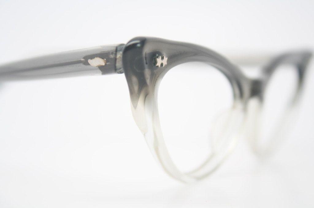 Items similar to Zyloware cat eye glasses Grey Fade authentic vintage eyewear for women retro cateye eyeglass frames 1950 1960 cats eye glasses vintage on Etsy