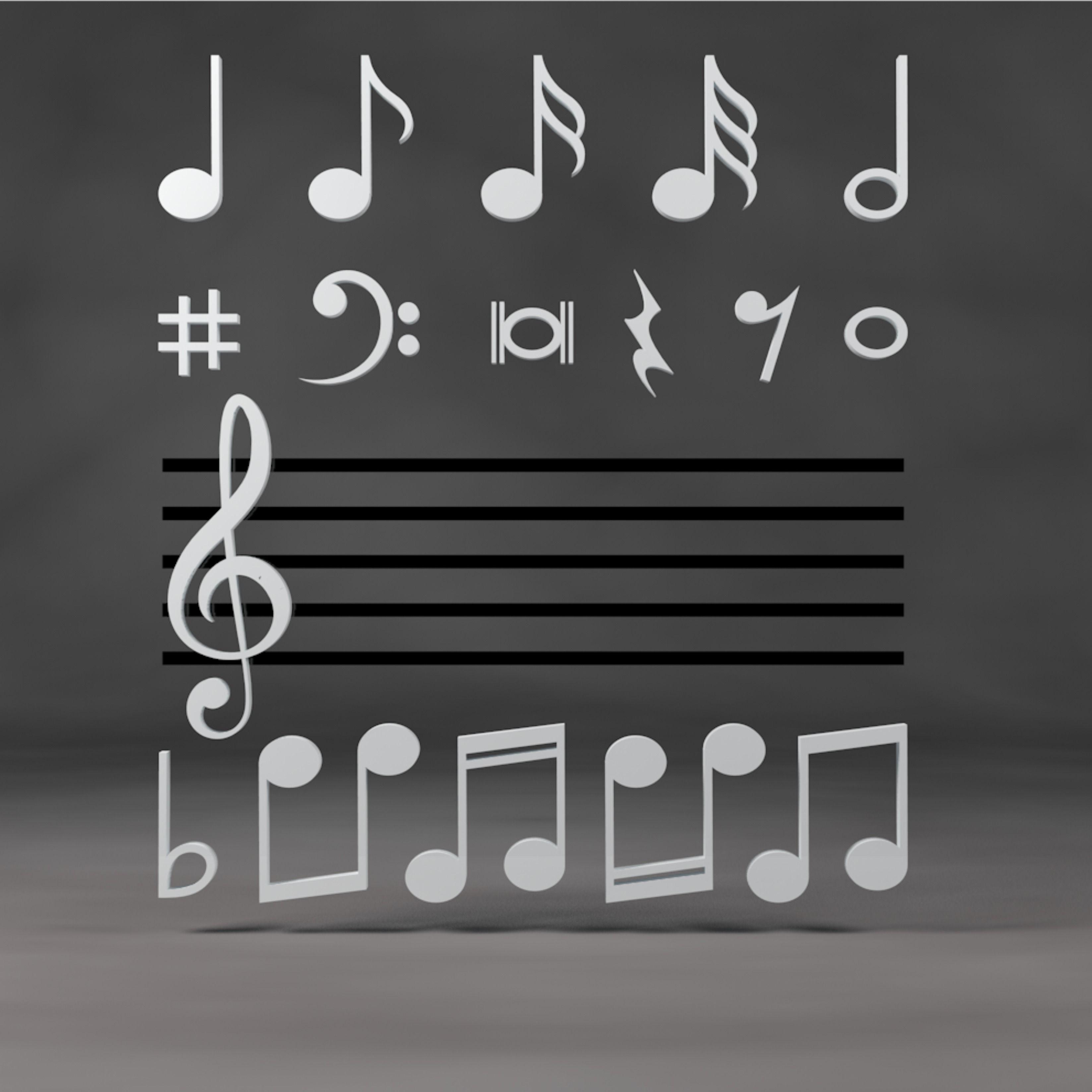 3d Music Symbols Note Pack In 2020 Music Symbols Music Notes Symbols