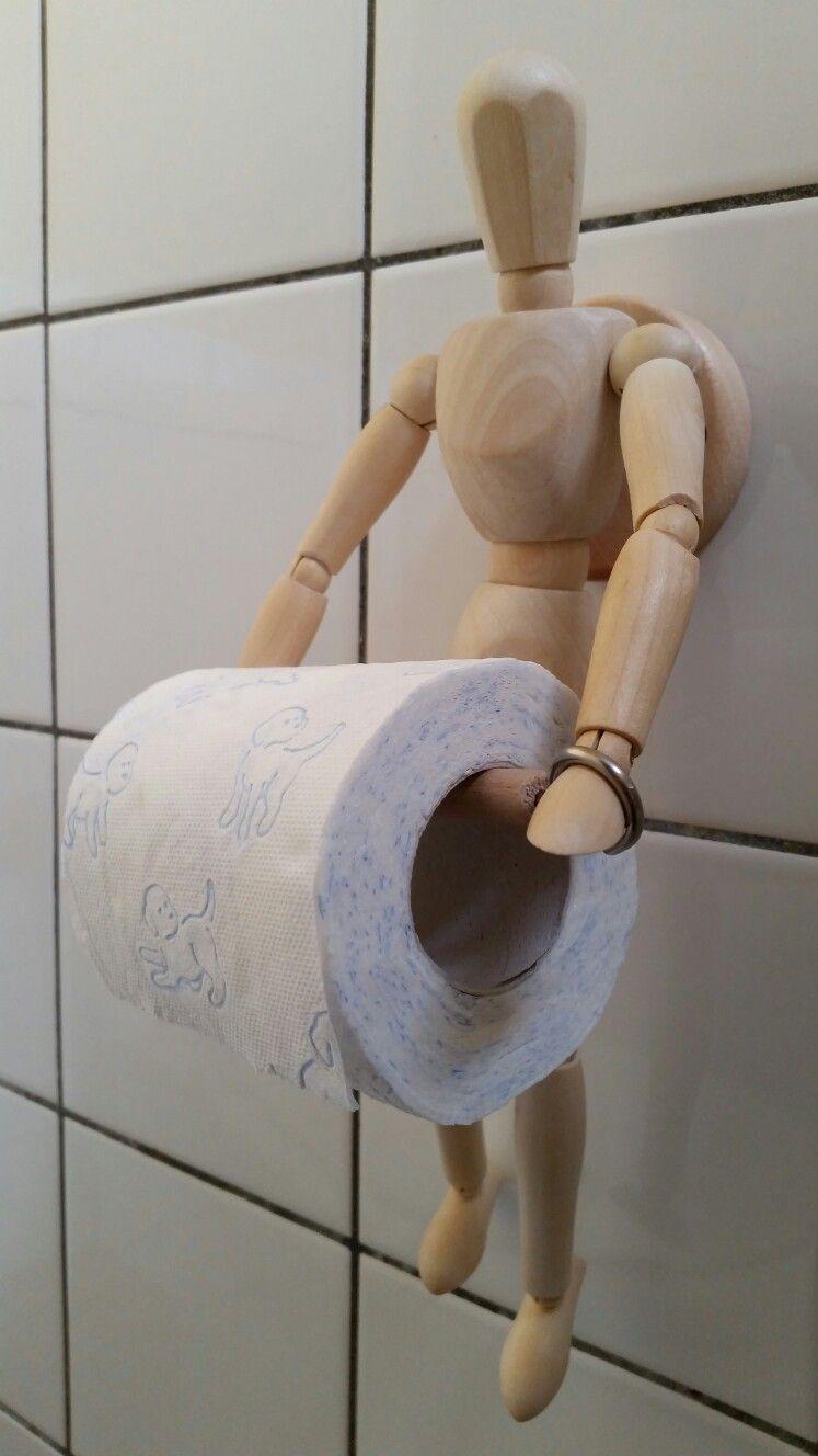 Diy Yeah I Made It Myself Van Mannequin Naar Toiletrolhouder Dit Model Is Een 14 Gewrichten Menselijke Houten Mannequin Ledenpop Van 30 C Idees De Bricolage De Salle De Bain Rangement