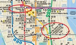 Image result for colored map of New York City subway system by ...