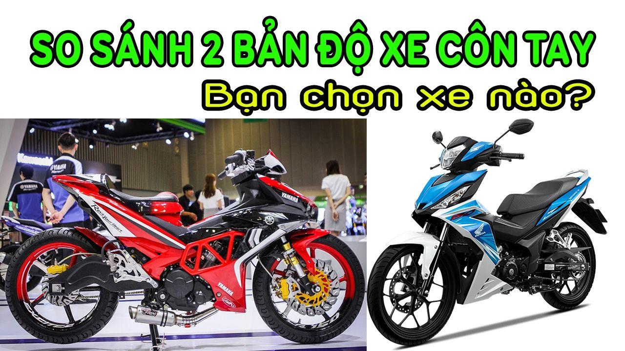 Honda Winner 150 bản độ bình dân và Yamaha Exciter 150 bản dự thi triển ...