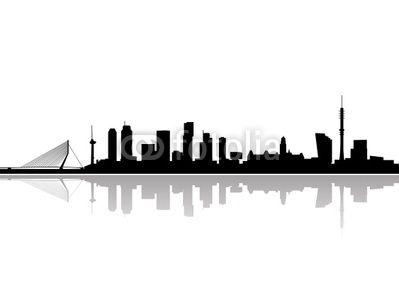 Fotobehang Rotterdam Skyline Vector Pixers We Leven Om