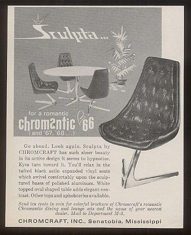 1966 Chromcraft Sculpta Modern Chair Photo Print Ad | eBay | Vintage ...