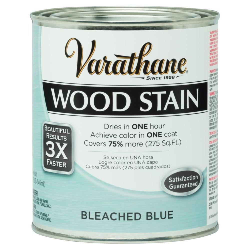 Varathane 1 Qt 3x Bleached Blue Premium Wood Stain Case Of 2