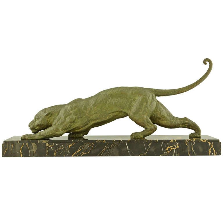 1stdibs | Art Deco Panther By Demetre Chiparus, France 1930.