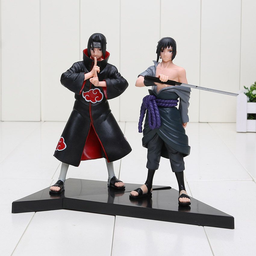 15cm Sasuke Uchiha Itachi Uchiha 2pcs Set Action Figure Com
