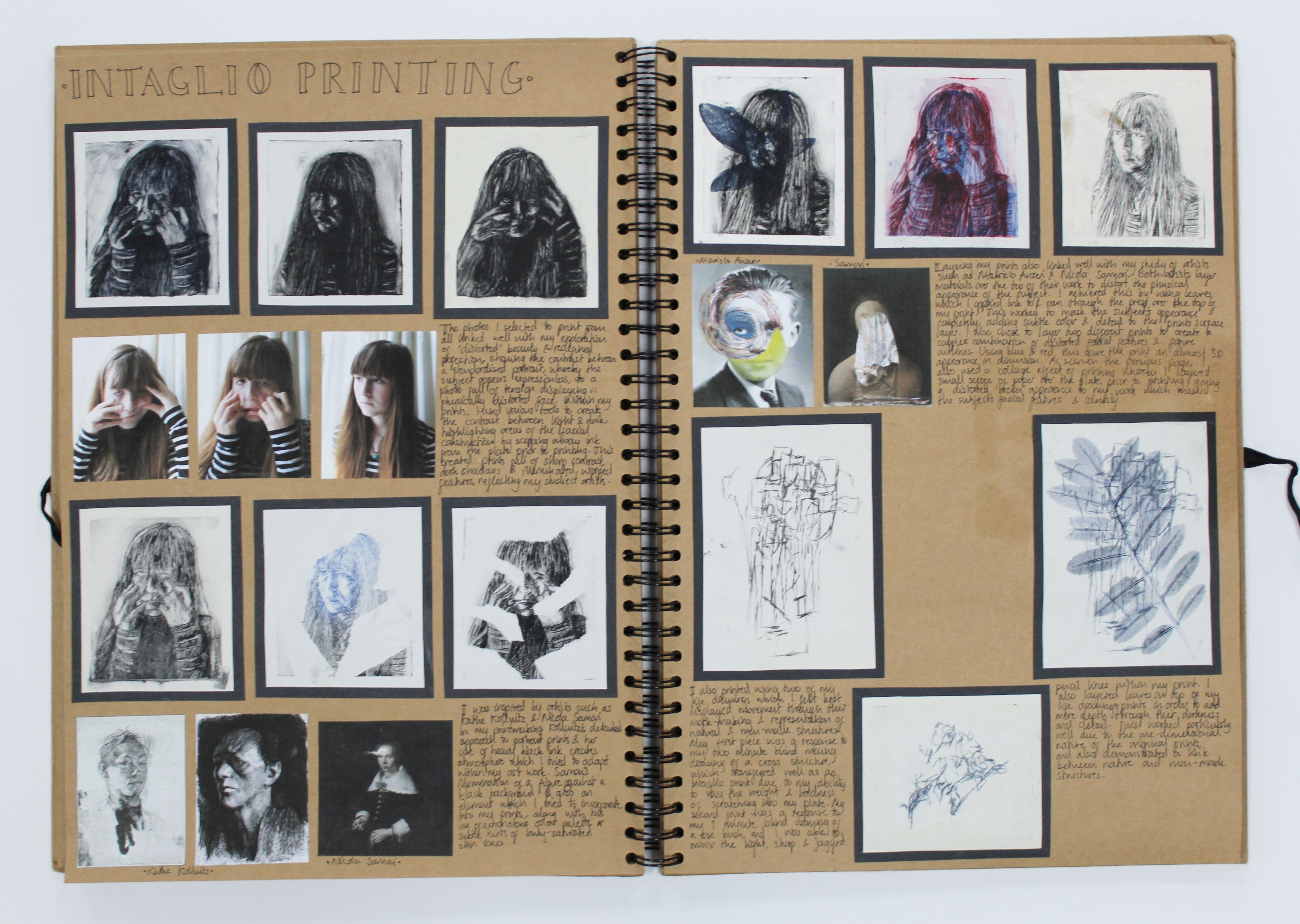 A2 Fine Art A3 Brown Sketchbook Intaglio Printing Cswk Theme Flaws Perfections Ideals And Compromises Thomas Rot Photography Sketchbook Sketch Book Art