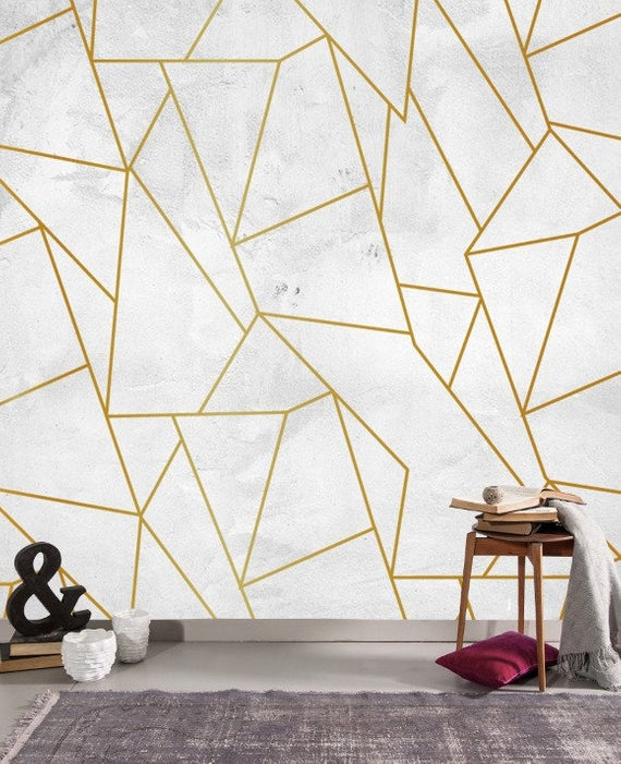 Poster For Bedroom Living Room Cafe Kitchen Kids Muravie Products Are Produced In High Resolutio Geometric Shapes Wallpaper Painting Wallpaper Wallpaper #wallpaper #for #walls #living #room