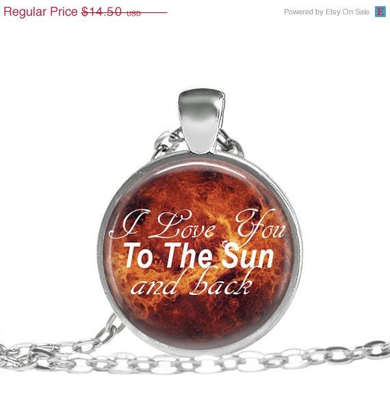 JOLLY SALE To The Sun and Back Quote Necklace I Love by EmpireJune