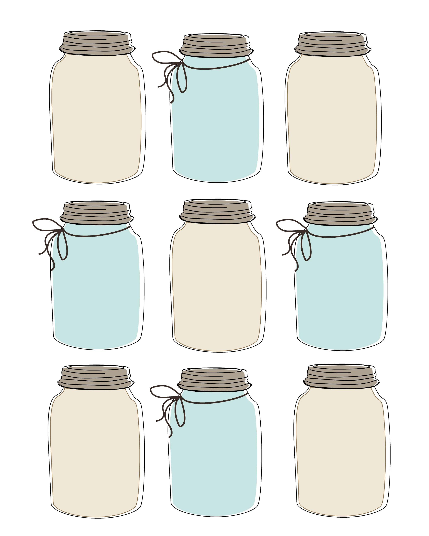 Universal image throughout mason jar printable