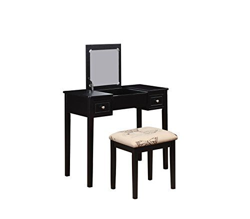 Linon Home Decor Vanity Set With Erfly Bench Black Price 133 99