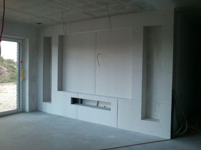 Planung Beamer u2026 Pinteresu2026 - wohnzimmer vorwand mit deko nische