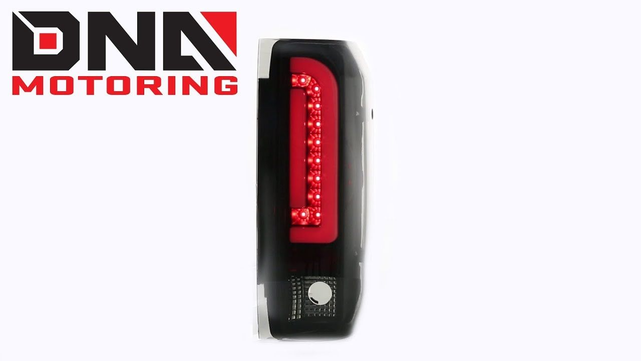 Dna Motoring 87 96 Ford F150 F250 Bronco 3d Black Smoked Tail Light Ford F150 F250 F150