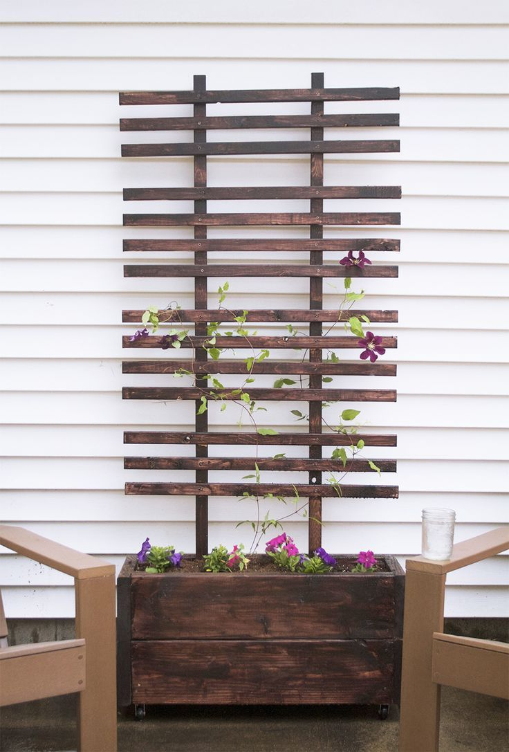 Diy Trellis And Planter Box Tutorial This Is The One C Decided On Building This Weekend Diy Trellis Planter Trellis Outdoor Diy Projects
