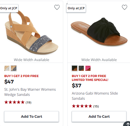 165e129a39b7 JCPenney   Buy 1 Get 2 FREE Women s Shoes!!