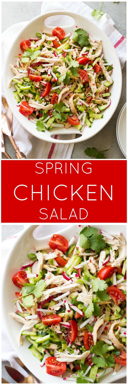Spring Chicken Salad Little Broken Recipe Healthy Spring Recipes Lean Eating Delicious Salads