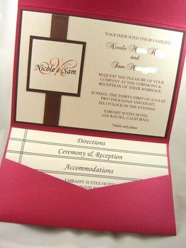 DIY Wedding Challenge Semi Pocket Fold Invitations