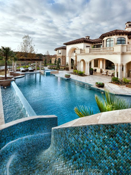 Mediterranean Pool Design Ideas Pictures Remodel Decor Amazing Swimming Pools Dream Pools Mansions