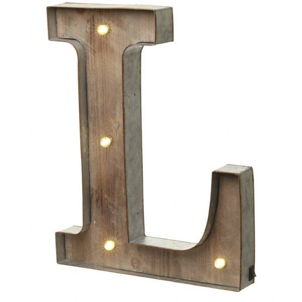 all things Brighton beautiful Alphabet Letter Led Light L £25