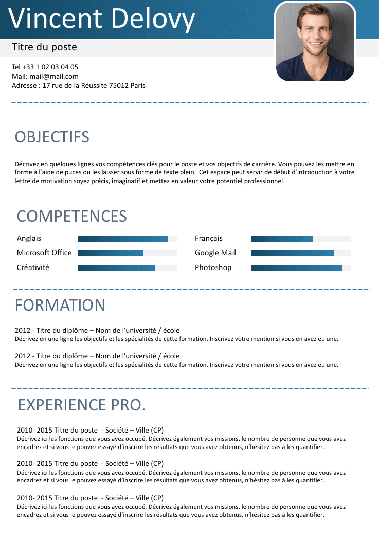 Cv De Travailleur Independant Exemple Cv Cv En Ligne Telecharger Modele Cv