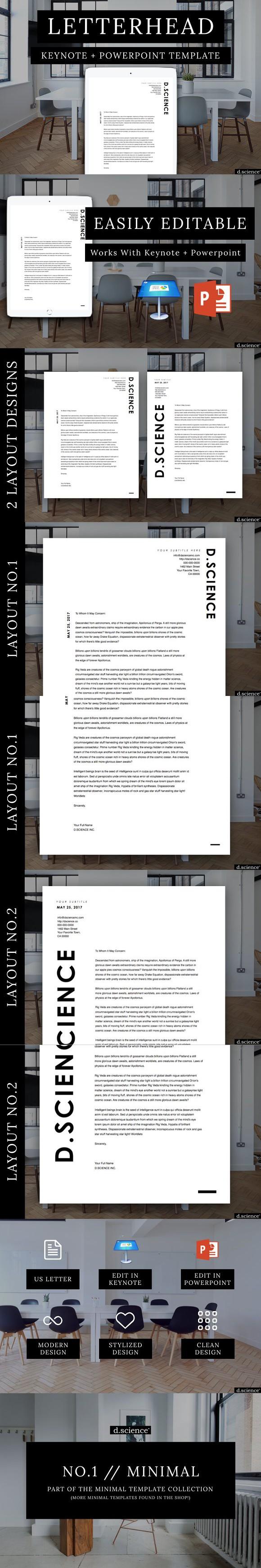 Minimalist Letterhead Template No.1 Letterhead template
