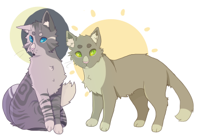 Ivypool and Dovewing | by bighornsheep on tumblr