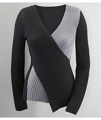 $49  cross over & V neck styling     monroeandmaine.com  Sweater, Deanna Colorblock Crisscross from Monroe and Main