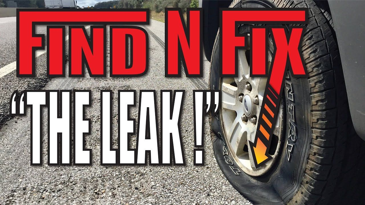 How to Find and Repair TIRE LEAKS YouTube in 2020
