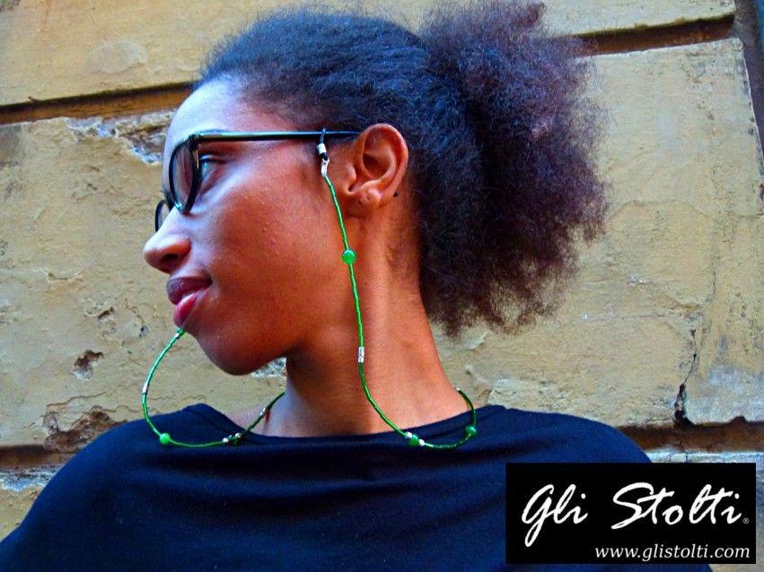 Laccio per occhiali bijou artigianale in vetro soffiato. Vai al link per tutte le info: http://glistolti.shopmania.biz/compra/laccio-per-occhiali-bijou-in-vetro-soffiato-455 Gli Stolti Original Design. Handmade in Italy. #glistolti #moda #artigianato #madeinitaly #design #stile #roma #rome #shopping #fashion #handmade #style #bijoux #occhiali #glasses #sunglasses