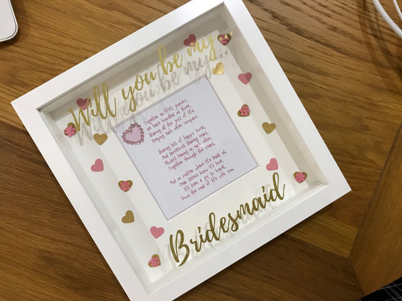 Bridesmaid Gift Will You Be My Bridesmaid Made Of Honour Box