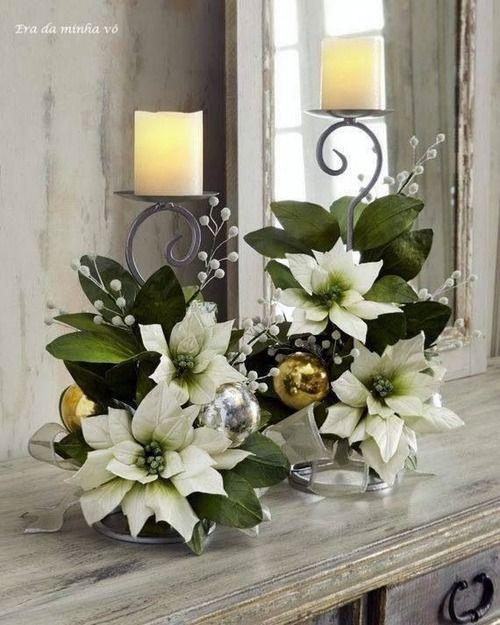 Idea para adornar mis candelabros esta navidad navidad - Adornar mesa de navidad ...