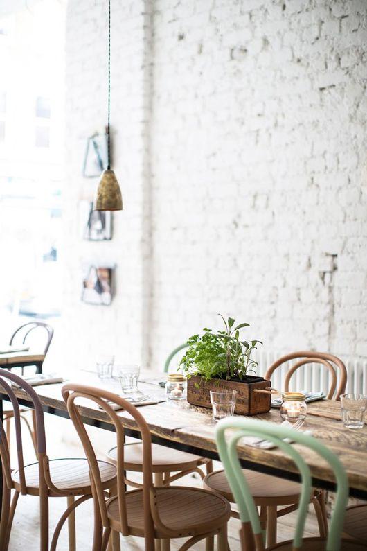 She S A Brick House Sfgirlbybay Dining Room Design Brick Decor House Interior