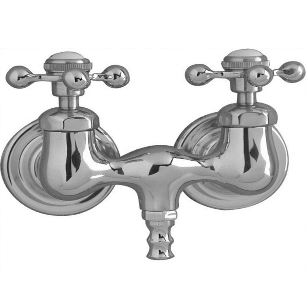 Pegasus 2 Handle Claw Foot Tub Faucet Without Hand Shower With Old Style Spigot In Polished Chrome Tub Faucet Clawfoot Tub Faucet Old Bathtub
