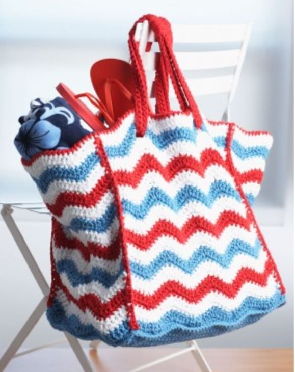 Chevron Tote Crochet Pattern   Crochet   Pinterest
