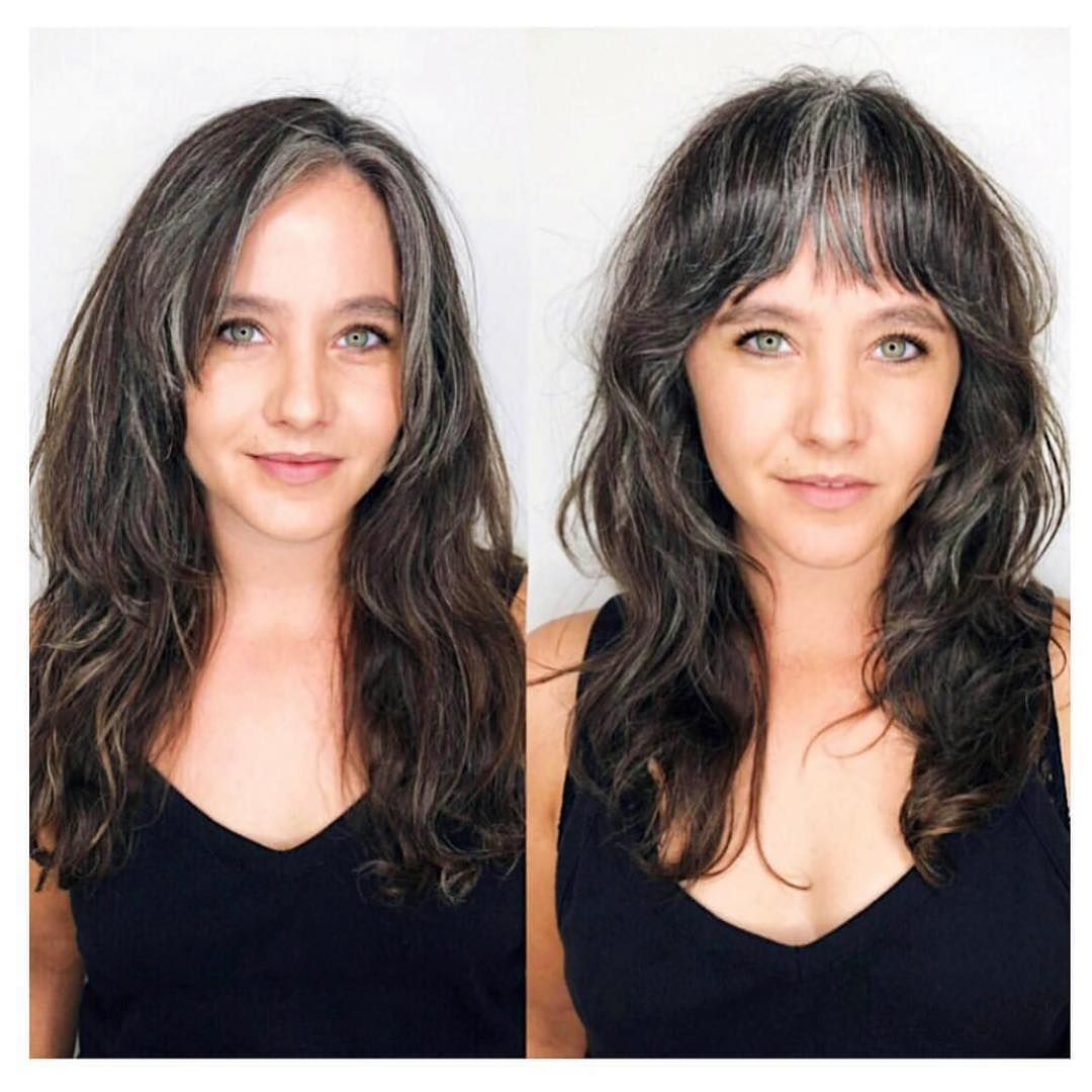 Our Amazing Client Koikceramics With The Coolest Natural Color Ever Hair By Jayne Edosalon Edosalon Bangs Gray Hair Growing Out Grey Hair Strands Hair