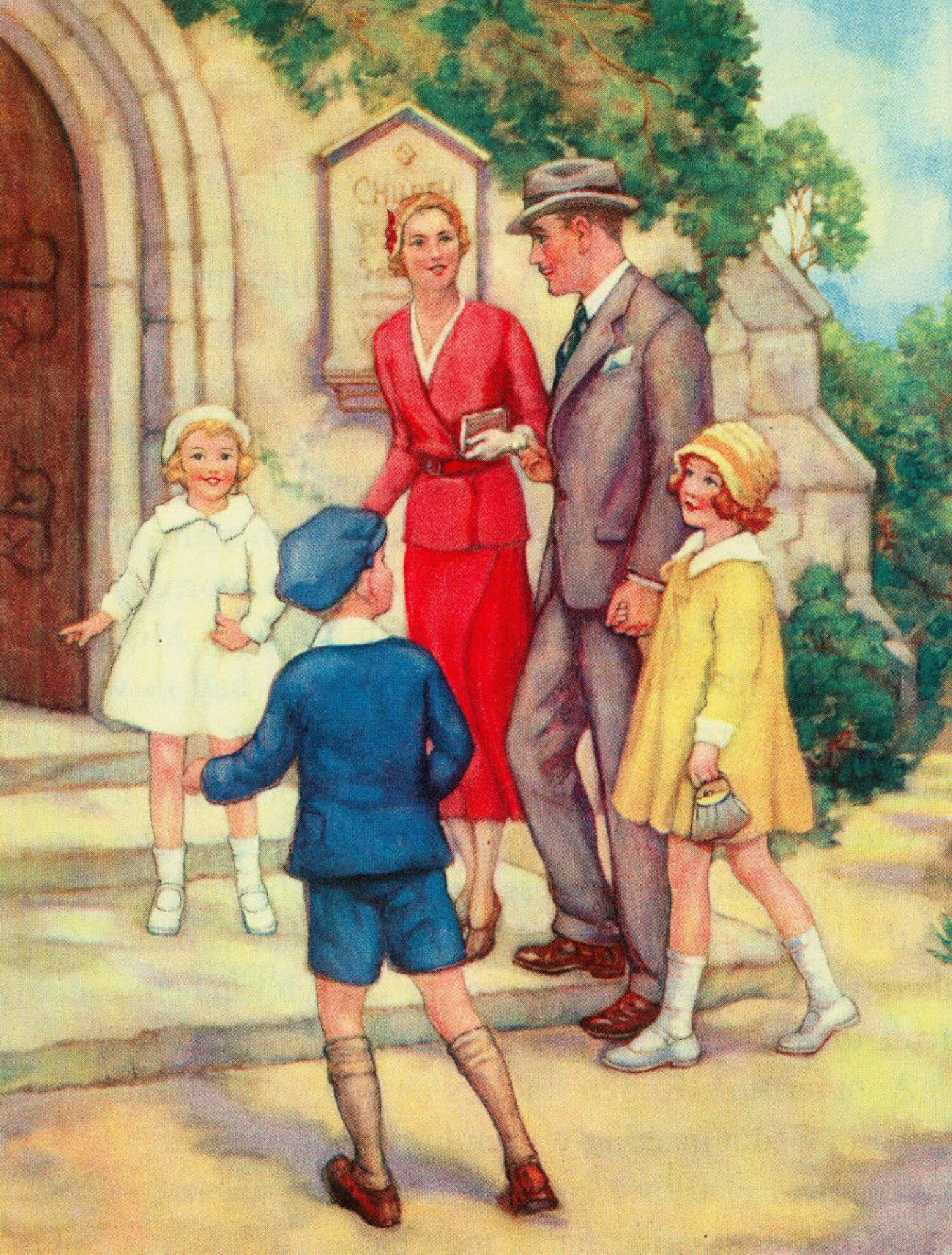 Image result for going to church children's book illustration