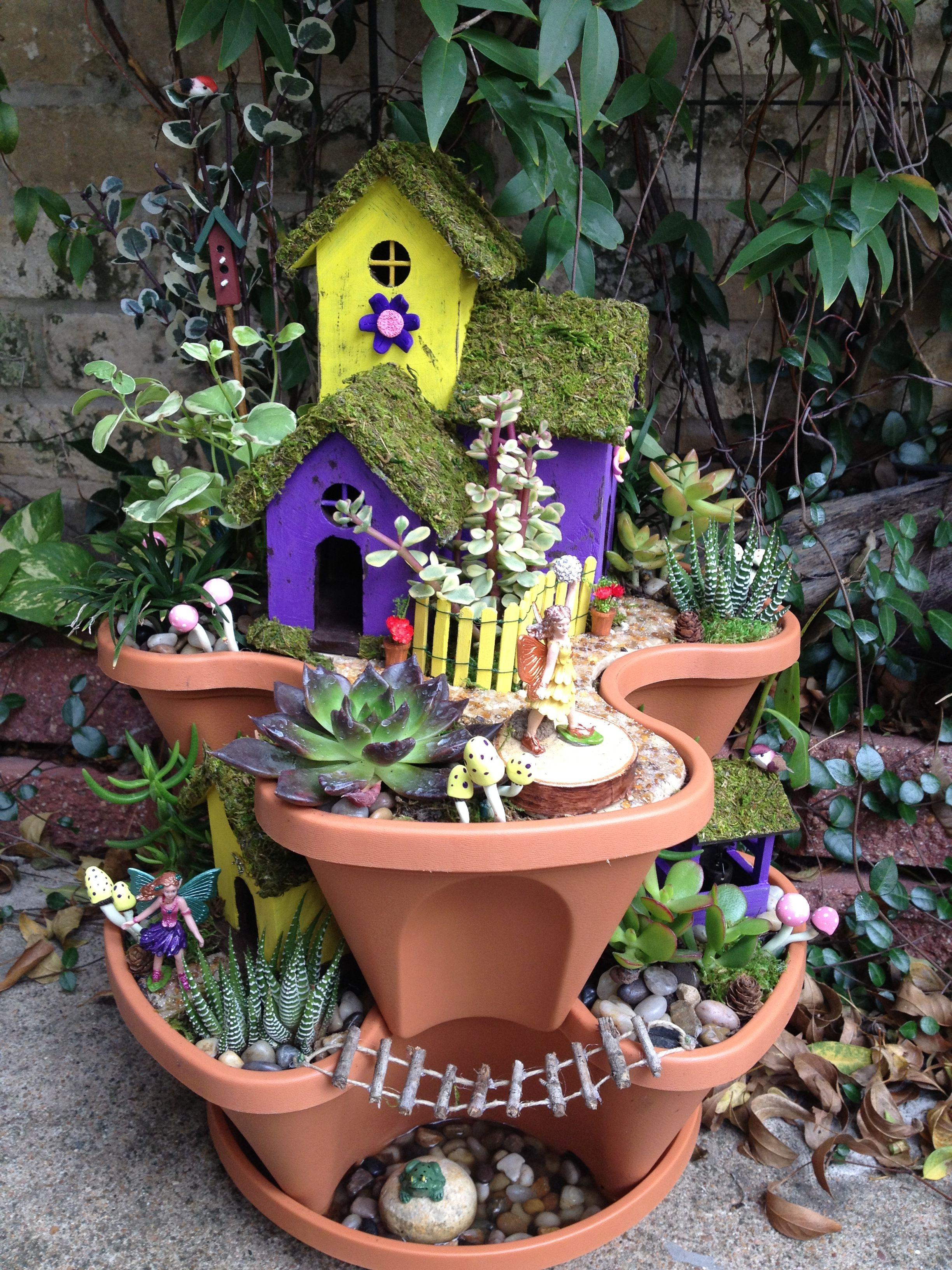 Miniature fairy garden sabrina front all real plants - Miniature plants for fairy gardens ...