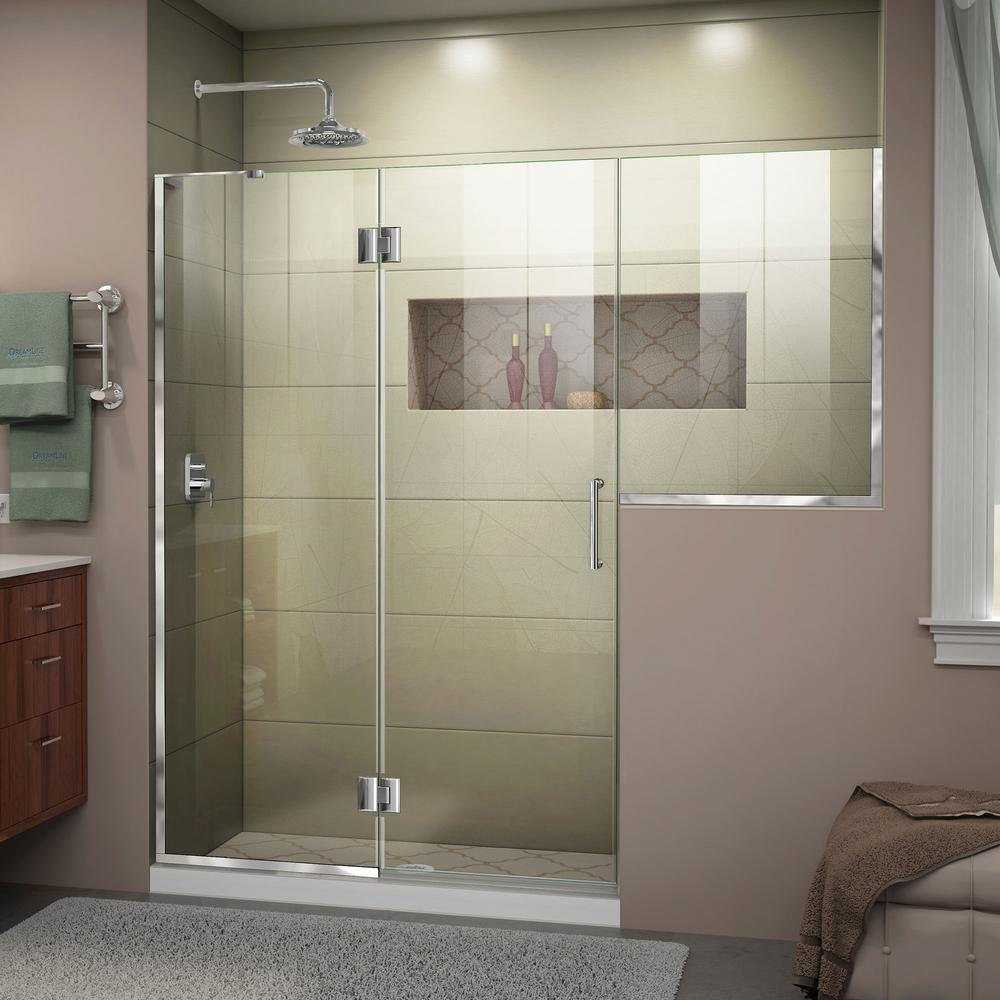 Dreamline Unidoor X 59 To 59 5 In X 72 In Frameless Hinged