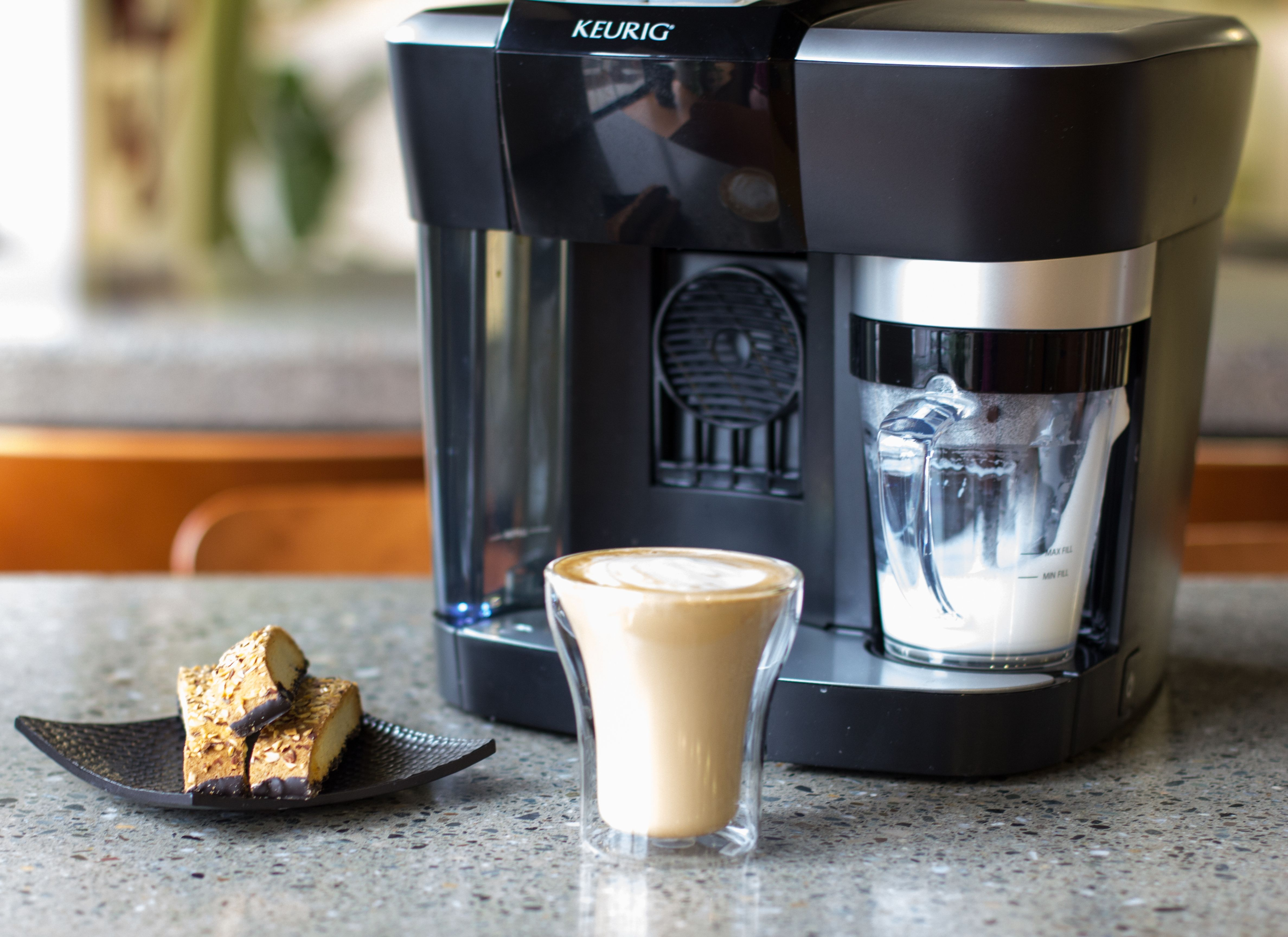 Make the most perfect cup of Keurig Brewed cappuccino and latte with our Rivo Cappuccino & Latte System and Lavazza's Espresso Intenso, Espresso Classico, Espresso Decaf, and Espresso Delicato Rivo pods!