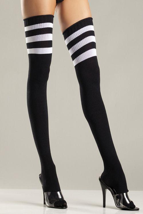 190ec92c8 Athletic Ribbed Thigh Highs  BW645  -  7.50   Clubwear